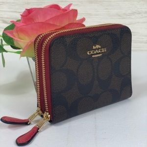 🥰Coach Small DoubleZip Around Wallet